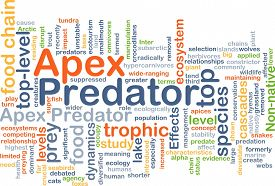 pic of predator  - Background concept wordcloud illustration of apex predator - JPG