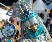 picture of sceptre  - Traditional Venice Carnival mask in San Marco square Venice - JPG