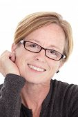 image of middle-age  - Smiling Middle Aged Woman - JPG