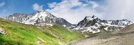 image of mountain-range  - Mountain panorama - JPG