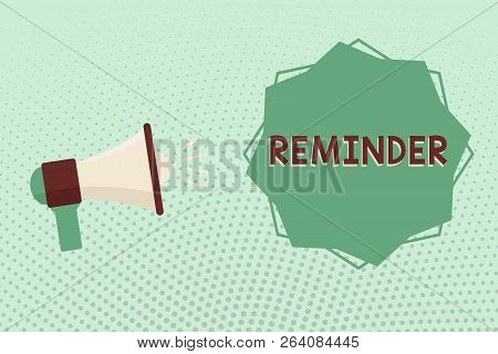 Writing Note Showing Reminder Business