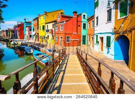 Venice Landmark Burano Island Canal