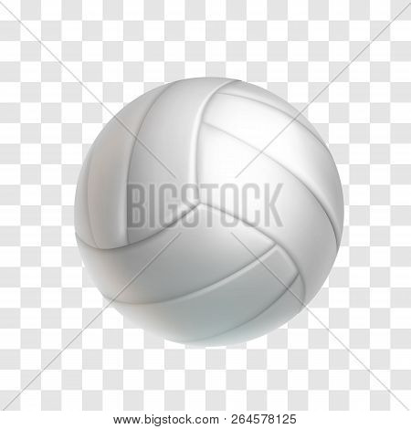 Realistic White Volleyball Ball Isolated