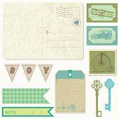 Постер, плакат: Винтажные открытки с дизайн элементы записки для мальчика