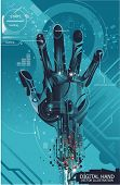 security concept with cybernetic hand,vector illustration