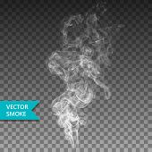Vector Realistic Smoke On The Transparent Background. poster