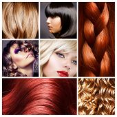 pic of hair cutting  - Hair Collage - JPG