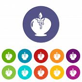 Candle Romance Icon. Simple Illustration Of Candle Romance Vector Icon For Web poster