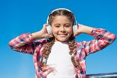 True Hapiness. Small Music Fan. Happy Small Girl. Small Girl Listen To Music Outdoor. Happy Child We poster