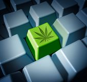 Cannabis Online Purchase Of Legal Marijuana Through E Commerce And Internet Weed Sales Concept As A  poster