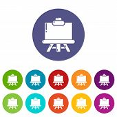 Canvas Icon. Simple Illustration Of Canvas Vector Icon For Web poster