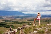pic of canaima  - Women tourist looking at table - JPG