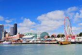 CHICAGO, IL - OCT 1: Navy Pier and skyline on October 1, 2011 in Chicago, Illinois. It was built in