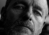 image of sad man  - a man of sensitivity and character - JPG