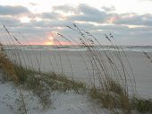 foto of beach sunset  - Sun setting over Florida Beach - JPG