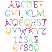 stock photo of tween  - Hand Drawn Alphabet  - JPG