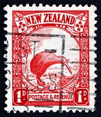 Postage Stamp New Zealand 1935 Kiwi And Cabbage Palm