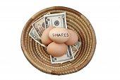 Постер, плакат: Корзина яиц акций