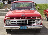 1965 Red Ford F100 Pickup Truck