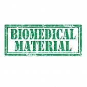 stock photo of biomedical  - Grunge rubber stamp with text Biomedical Material - JPG