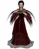 Gothic Fairy in Red