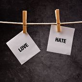 stock photo of hate  - Love or hate conceptual image - JPG