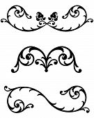 foto of scrollwork  - Organic plant forms create these intricate scrollwork ornaments to use for page dividers line rules or text separators available in several different choices in gallery - JPG