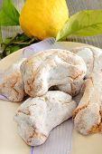 stock photo of sugar paste  - fragrant and sweet Sicilian almond paste with sugar and lemon - JPG