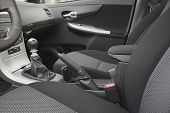 foto of seatbelt  - Car interior with back seats - JPG