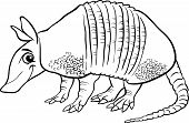 picture of armadillo  - Black and White Cartoon Illustration of Cute Armadillo Animal for Coloring Book - JPG