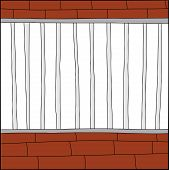 picture of stockade  - Hand drawn blank cage cartoon with white background - JPG