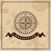 stock photo of longitude  - Wind Rose Nautical Compass  - JPG