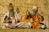 image of guru  - Indian sadhu  - JPG