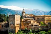 stock photo of v-day  - View of the famous Alhambra - JPG