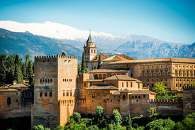 foto of v-day  - View of the famous Alhambra - JPG