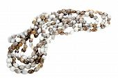 stock photo of zulu  - traditional south african zulu beads threaded into a necklace - JPG