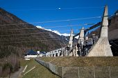 image of hydroelectric power  - The lower reservoir of Lac du Verney - JPG