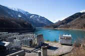 picture of hydroelectric power  - The lower reservoir of Lac du Verney - JPG