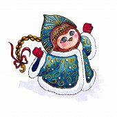 image of snow owl  - Owl Snow - JPG