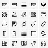 picture of linoleum  - Set of Building materials on grey background - JPG