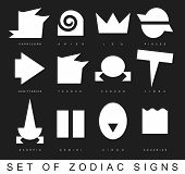 picture of primitive  - Very primitive zodiac signs set in vector - JPG