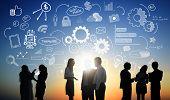 pic of teamwork  - Business People Teamwork Social Media Finance Concept - JPG