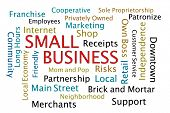 stock photo of patron  - Small Business Word Cloud on white background - JPG