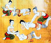 stock photo of thai massage  - The Traditional of Thai Massage for Relaxation - JPG