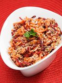pic of bean sprouts  - Healthy salad made of carrot beetroot tuna fish and bean sprout - JPG