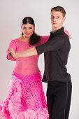 foto of  dancer  - Ballroom dancers dancing - JPG