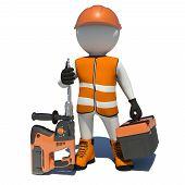 foto of shoe-box  - Worker in vest - JPG