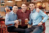 stock photo of mans-best-friend  - Meeting with best friends - JPG