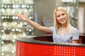 stock photo of mall  - Navigation service in shopping mall - JPG