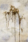 picture of concrete pouring  - Creative background old concrete wall pour paint stains spots cracks and scratches - JPG